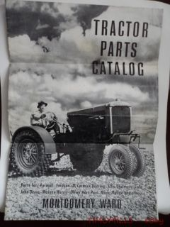 Montgomery Ward Tractor Parts and Accessories Catalog Brochure c.1940s
