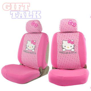 Hello Kitty Car Pink Front Seat Covers Accessories Decor girls