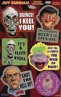 Jeff Dunham Characters Peanut Achmed Walter Bubba J Magnet Sheet HT