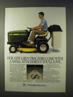 1986 John Deere 130 Lawn Tractor Ad, Advertisement   Small Attachment