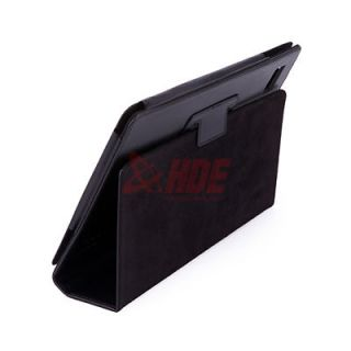 For Acer Iconia Tab A500 A501 Folio Leather Case Cover, Black