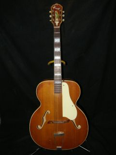 Early 50s Kay Archtop Acoustic Guitar Amazing Sound super low action