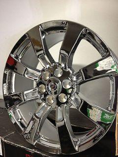 22 Inch Chrome Cadillac Escalade Factory GM Accessory Wheels Rims 6x5