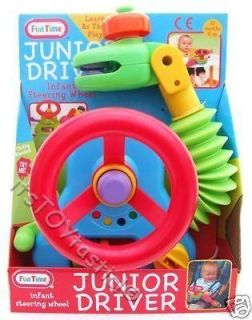 JUNIOR DRIVER CAR Steering Wheel Activity Toy for buggy stroller Baby