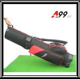Travel mate golf cover hard case shell hybrid tour golf bag red/black