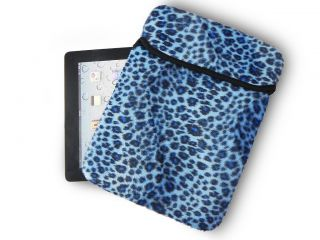 New Blue Zebra Colors Netbook Laptop Tablet Sleeve Case Bag Cover For