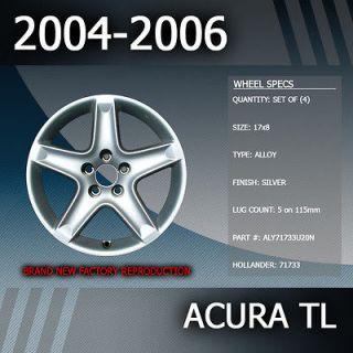 2006 Acura TL Factory 17 Rims Wheels Set of 4 (Fits 2006 Acura TL