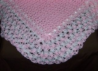 NEW Soft FANCY Crochet Baby Blanket Afghan; 5 Colors available; w