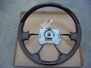 ACURA MDX WOOD GRAIN & LEATHER STEERING WHEEL BEIGE OEM (Fits Acura)