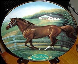 Champion Thoroughbreds Susie Morton Whirlaway Horse Danbury Mint Plate