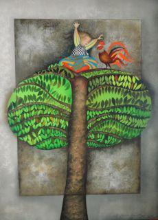 Rodo Boulanger  Un Coq Pour Tatiana  Original Lithograph Artwork
