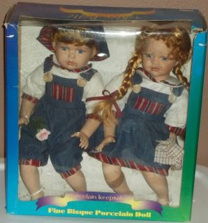 ASHLEY BELLE BISQUE PORCELAIN DOLLS 12 ANDREW RAMONA LIMITED EDITION