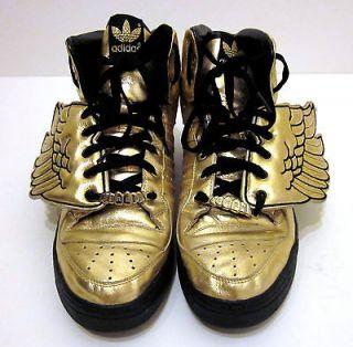 adidas Originals X Jeremy Scott  JS WINGS GOLD & Black   HARDLY USED