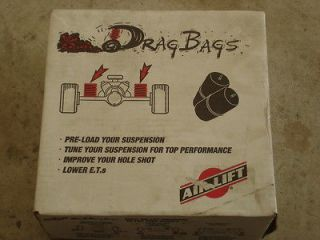 NEW AIR LIFT DRAG BAGS 1000 LOAD ASSIST REAR AIR SPRING KIT 60844