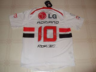 Adriano Sao Paulo Brazil Authentic Replica Home Soccer/Footbal l Shirt