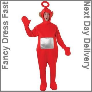 Adult Licensed Teletubbies Red Po Fancy Dress Costume Cbeebies