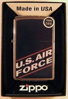 New Zippo Lighter   Brushed Chrome   U.S. Air Force