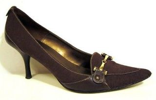 Newly listed AK Anne Klein Brown Fabric Pump Size 8M
