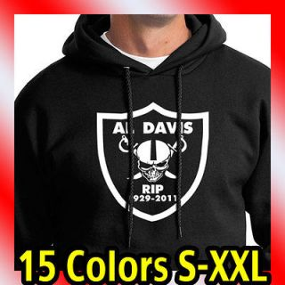 Al Davis RIP HOODIE oakland t shirt memorial tribute new raider nation