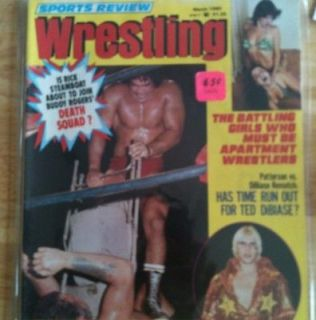 Sports Review Wrestling March 1980 Ricky Steamboat Magazine Womens