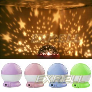 Rotation Star Romantic Children Fantastic Night Projector Light Lamp