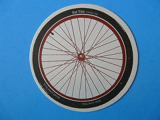 Beer Coaster~ New Belgium ~ Fat Tire Amber Ale ~ Ride Your Bike~ Drink