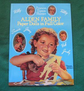 ALDEN FAMILY Paper Dolls in Full Color Frances Tipton Hunter (1989