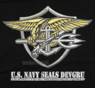 Military US Navy Seal T Shirt Black DEVGRU Naval Special Warfare Force