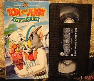 TOM AND JERRY FESTIVAL OF FUN VHS VIDEO Rare & HTF! $3 Ships1 & $5