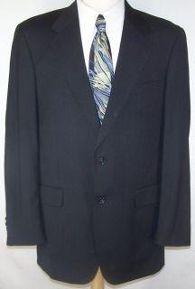 42L Albert Nipon Classic NAVY BLUE CASHMERE sport coat jacket suit