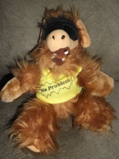 ALF Alien Doll Stuffed Animal Plush TOY NO PROBLEM SUCTION CUPS