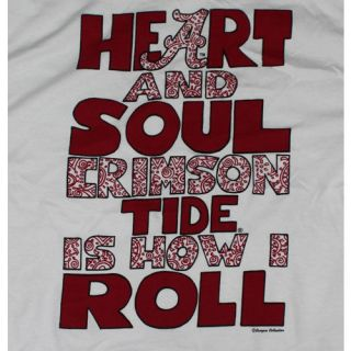 Alabama Crimson Tide Football T Shirts   Bama Girls Heart & Soul   How