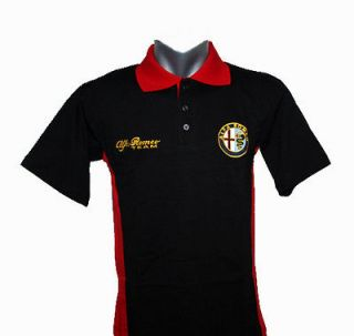 Alfa Romeo t shirt with collar 2   new model   logos are embroidered