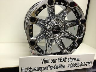 Chrome Ballistic Jester Wheels Rims GMC Sierra Yukon Canyon 17x9 6x5.5