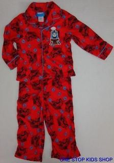 THOMAS THE TRAIN Toddler Boys 2T 3T 4T 5T Flannel Pjs Set PAJAMAS