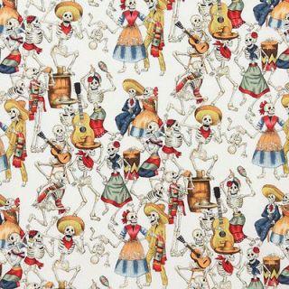 Alexander Henry Day of the Dead Fiesta De Los Muertos Natural Fat