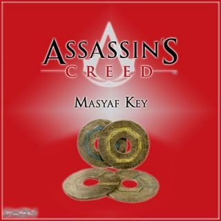 listed Assassins Creed Masyaf Key replica Altair Ezio Revelations