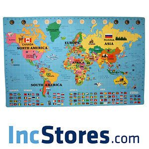 26 Sqft 5/8 World Map Puzzle Kids Play Mat Foam Nursery Learning