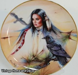 OF THE MYSTIC PATH Franklin Mint Native American Indian Display Plate