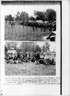 1971 Gang Motorcycl e Clubs Gang Surrounded by State troopers Press