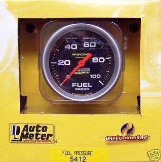 AUTOMETER PRO COMP LIQUID FILLED FUEL PRESSURE 100 PSI (Fits 1966