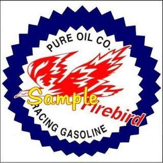 Pure Firebird Gas 2x2 Gas Vinyl Stickers Oil Decals Gasoline Pump