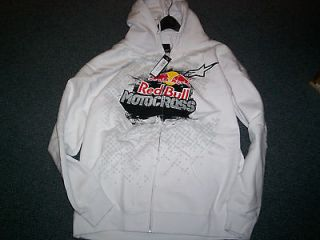 Alpinestars Red Bull Grit Zip Hoodie, Hoody, Jacket, White  XL, 2XL
