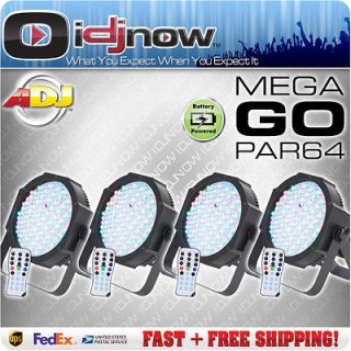 American DJ Mega Go Par 64 LED RGB DMX Battery Wireless Slim Profile