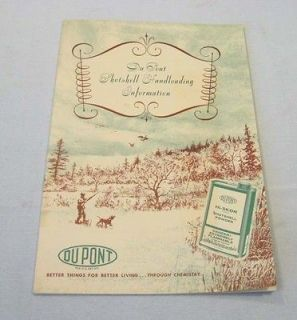 1962 Du Pont SHOTSHELL HANDLOADING Information Brochure