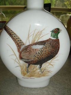 Pheasant Field Birds #1 Singer 1969 Whisky Decanter Bottle Dant Glass