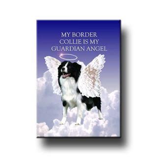 BORDER COLLIE Guardian Angel FRIDGE MAGNET New DOG