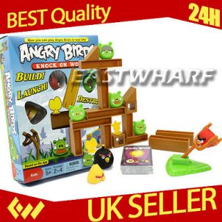 Angry Birds Knock On Wood Board Game Table Game Play Set