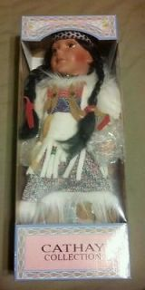 Cathay Collection Native American Porcelain Doll