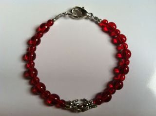 Anorexia (Ana) Support Red Bracelet  Sisters 4 Ever  Lobster Clasp